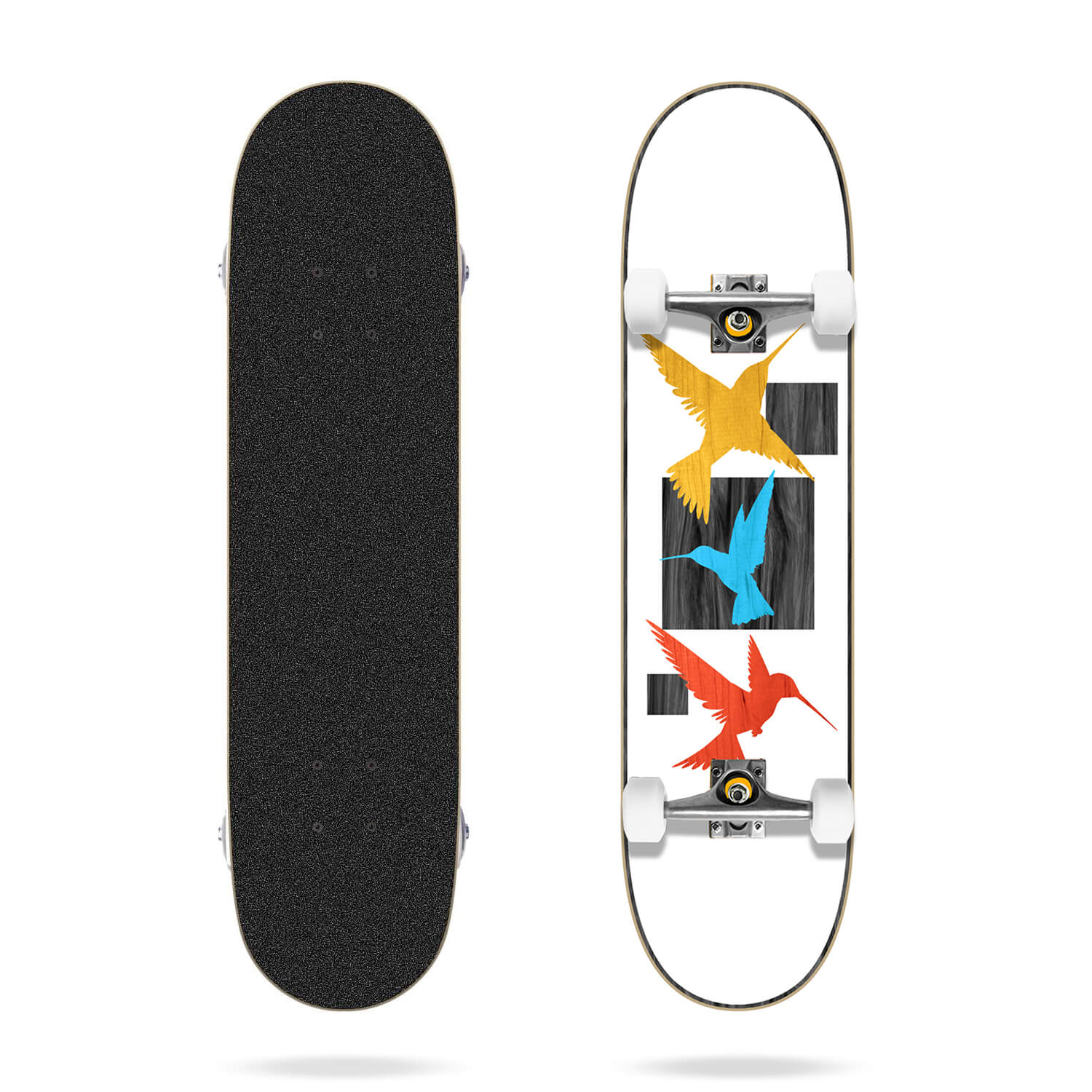 "Tricks Birds 7.75"" MC Skateboard Complete"