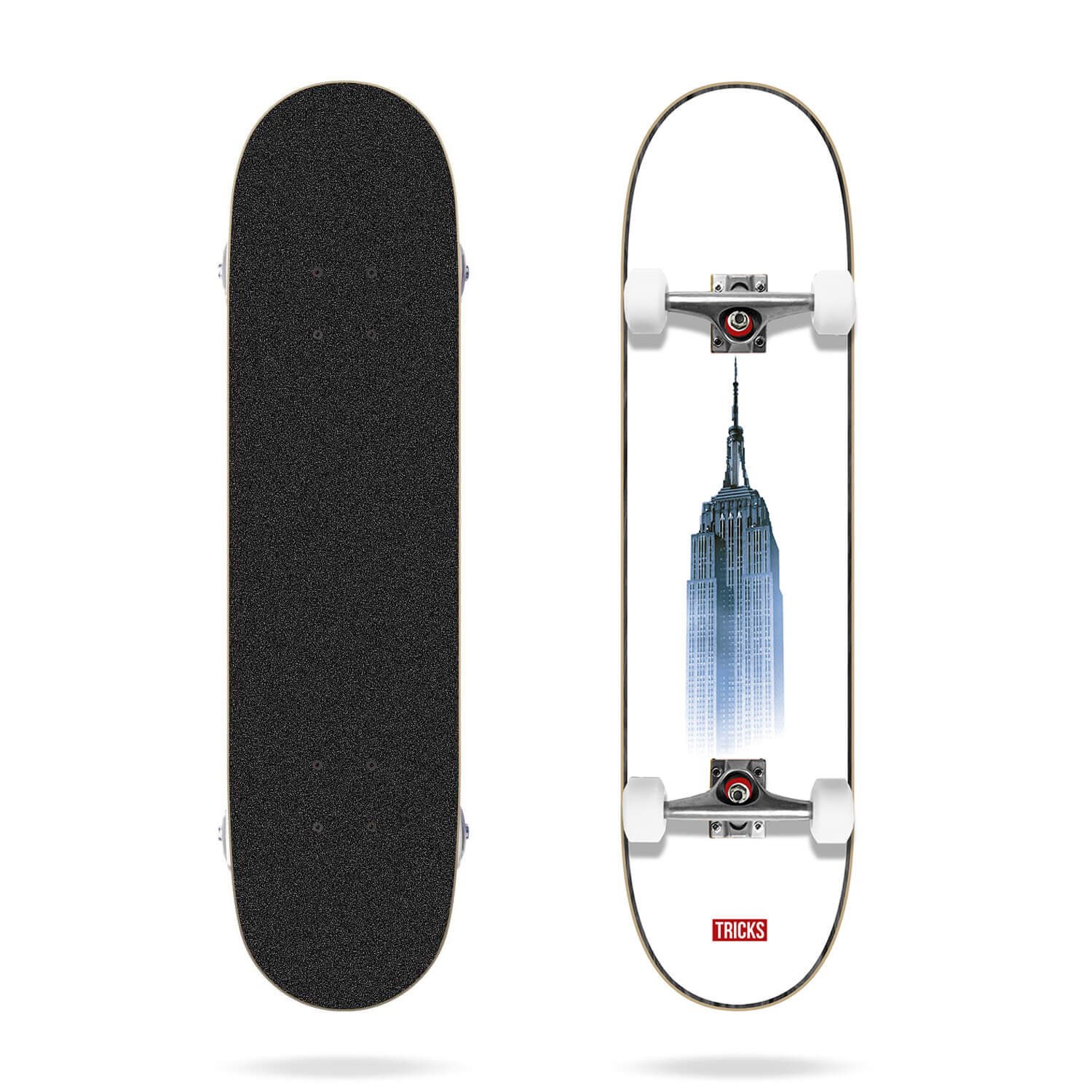 "Tricks Building 7.87"" HC Skateboard Complete"