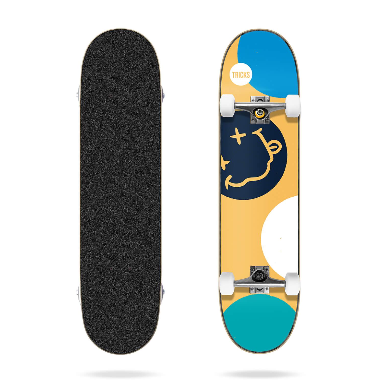 "Tricks Crazy 7.25"" MC Skateboard Complete"