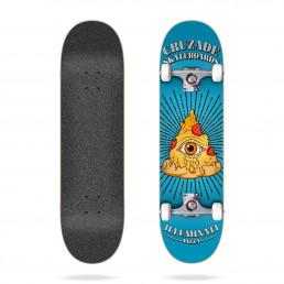 "Cruzade Illuminaty Pizza 8.0"" complete skateboard"