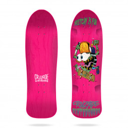 "Cruzade Sketchy Is Fun 9.0"" skateboard deck"
