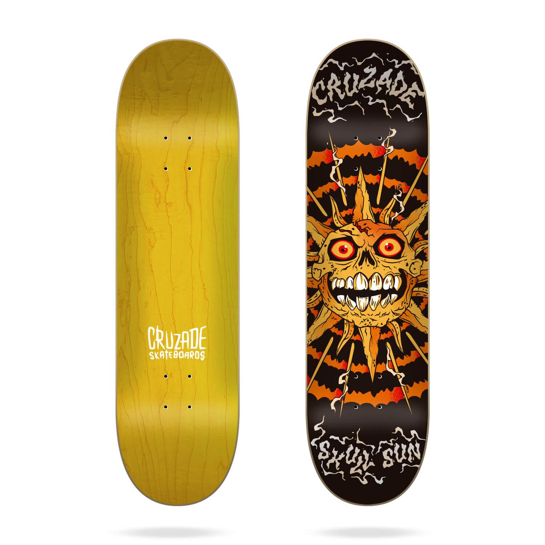 "Cruzade Skull Sun 8.375"" skateboard deck"