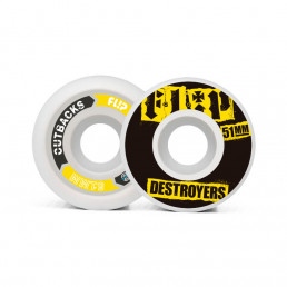 Flip Cutback Destroyers 51mm 99a Black wheels pack