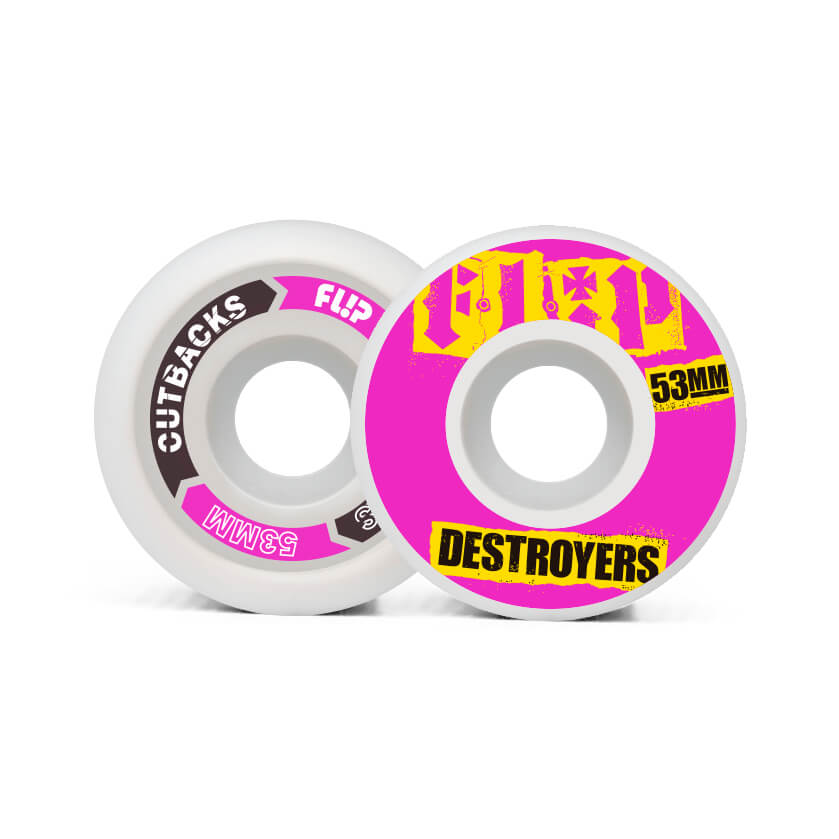 Flip Cutback Destroyers 53mm 99a Pink wheels pack