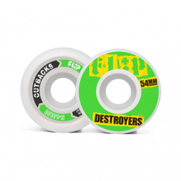 Flip Cutback Destroyers 53mm 99a Green wheels pack