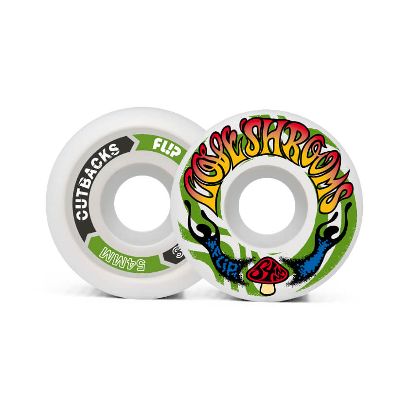 Flip Cutback Loveshroom 54mm 99a wheels pack