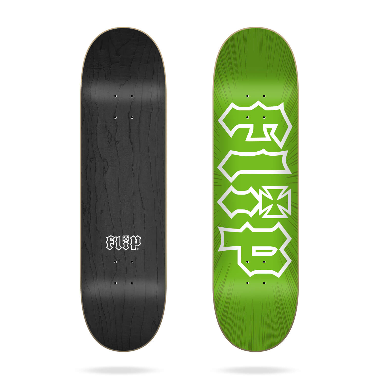 "Flip HKD Burst Green 8.5"" skateboard deck"
