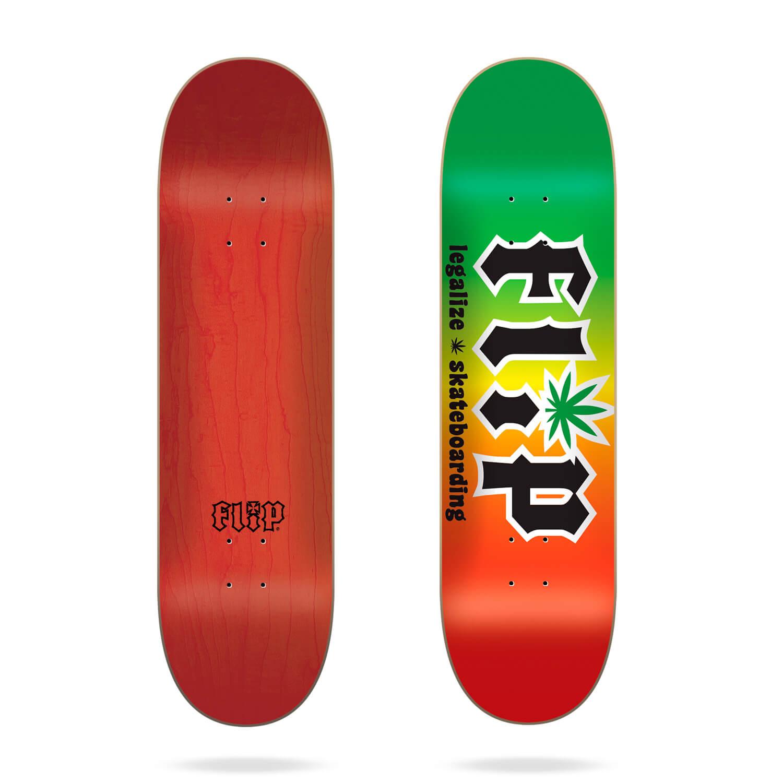 "Flip HKD Legalize Rasta 8.25"" skateboard deck"