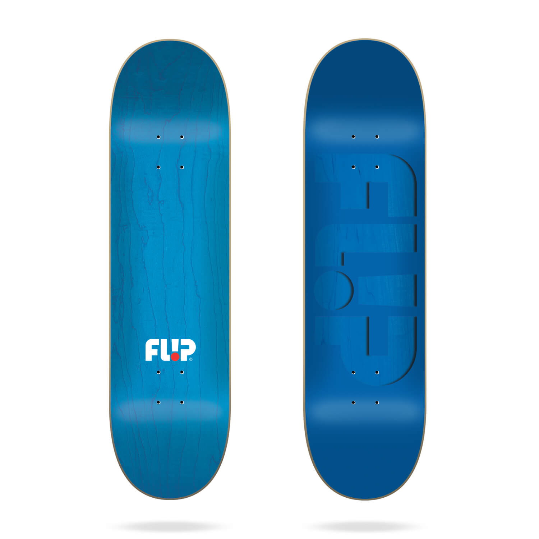 "Flip Odyssey Embossed Blue 8.25"" skateboard deck"