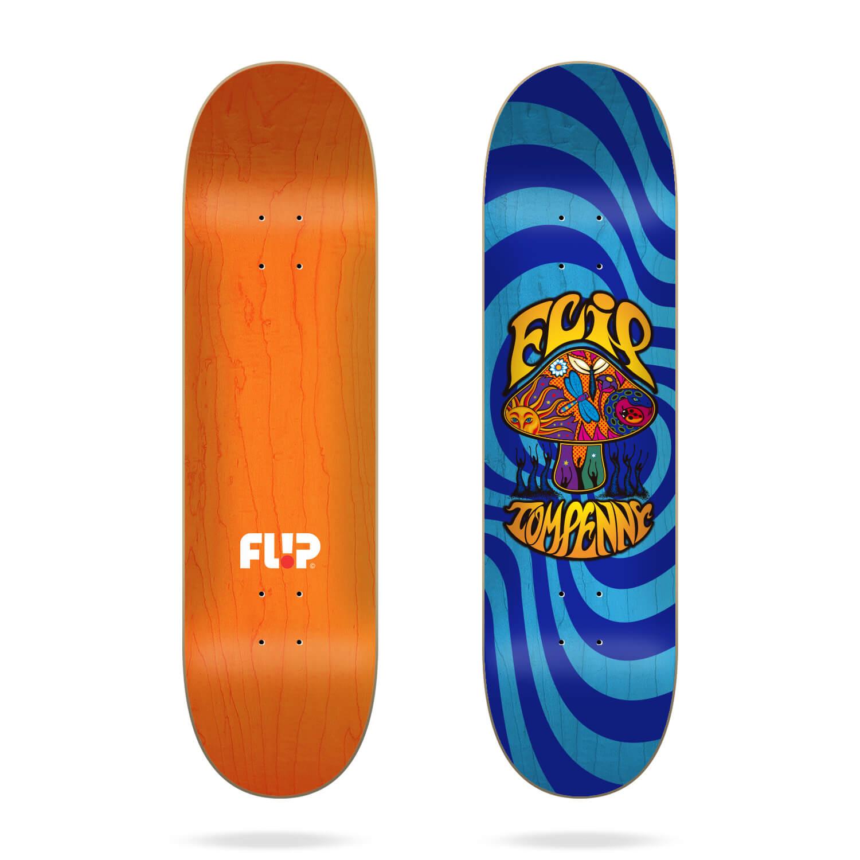 "Flip Penny Loveshroom Stained Blue 8.0"" skateboard deck"