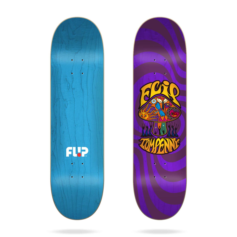 "Flip Penny Loveshroom Stained Purple 8.13"" skateboard deck"