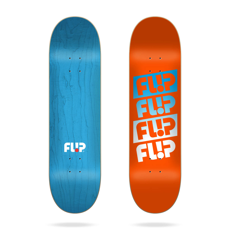 "Flip Team Quattro Faded Orange 8.45"" skateboard deck"