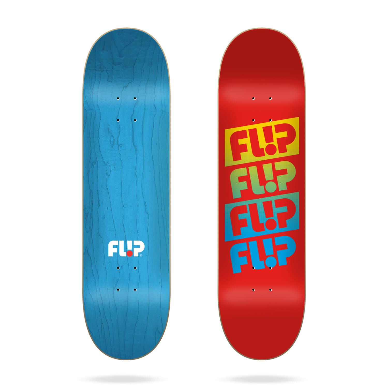 "Flip Team Quattro Faded Red 7.75"" skateboard deck"