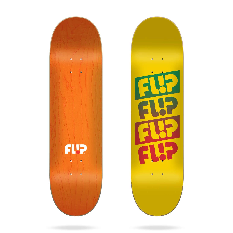 "Flip Team Quattro Faded Yellow 8.0"" skateboard deck"