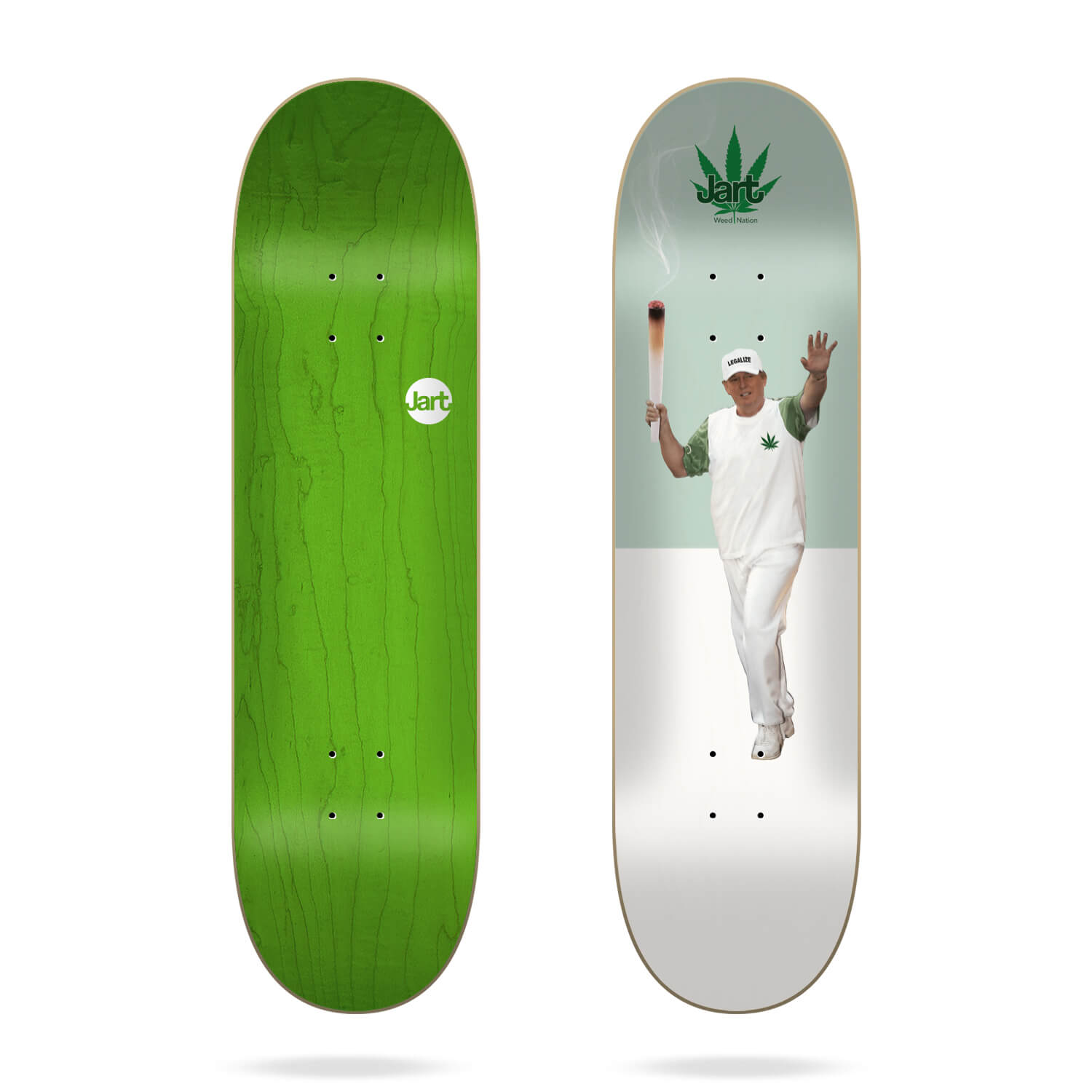"Jart Weed Nation ""Legalize"" 8.5"" skateboard deck"