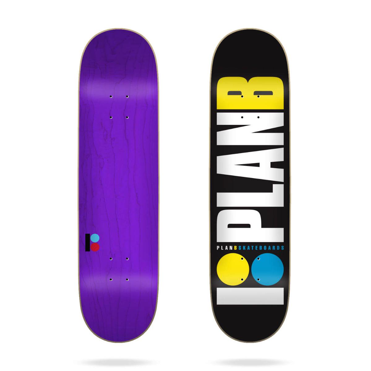 """Plan B Team Og Neon 8.25"""" Deck"""
