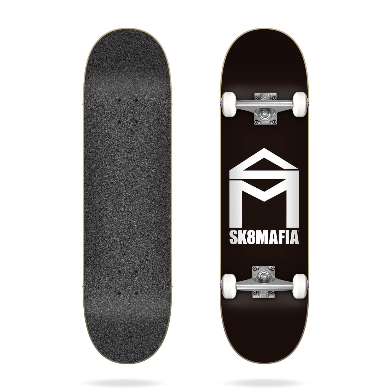 "Sk8mafia House Logo Black 7.75"" complete skateboard"