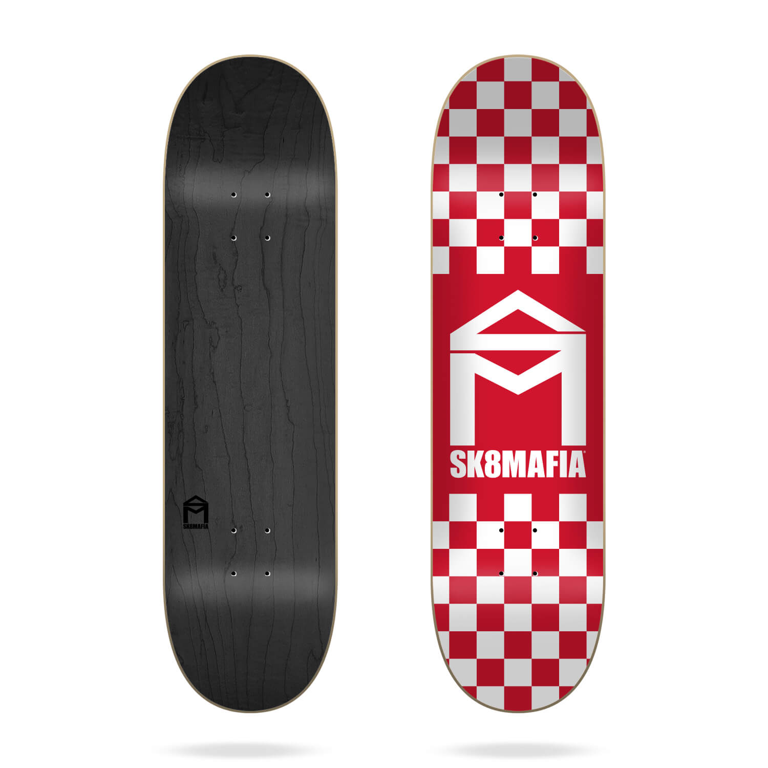 "Sk8mafia House Logo Checker Red 8.25"" skateboard deck"