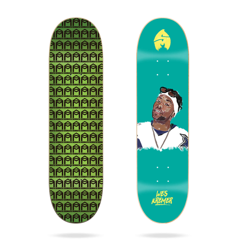 "Sk8mafia Wes Kremer ""4EVA"" 8"" skateboard deck"