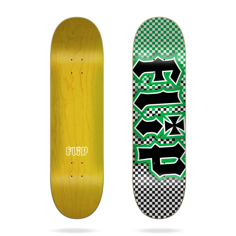 "flip team hkd fast times 8.25"" green deck"