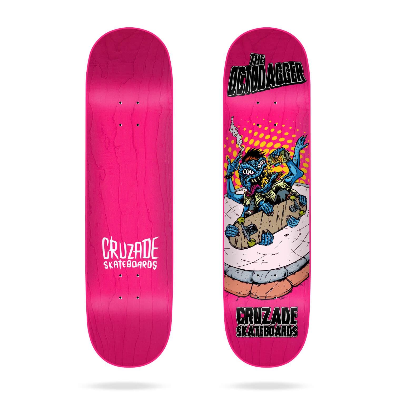 "Cruzade Skateboards The Mutant Elbow Skateboard Deck 8.25/"""