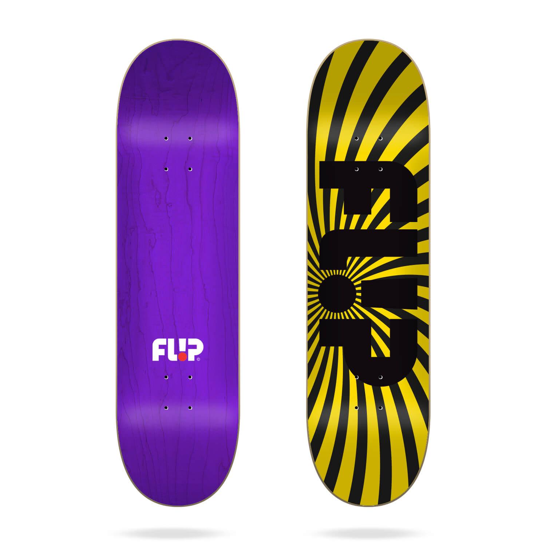 "Flip Spiral Yellow 8.25"" deck"