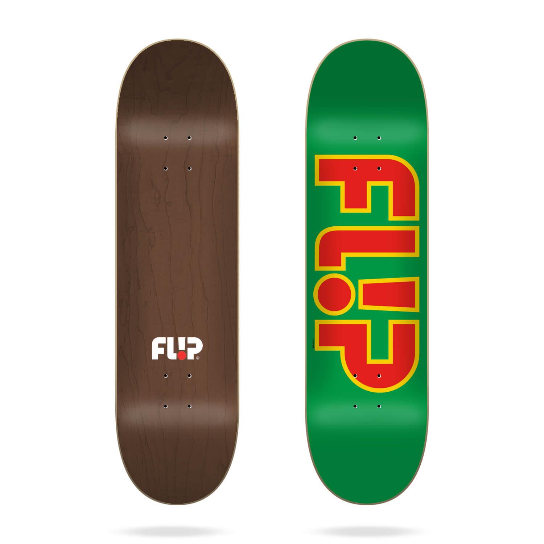 """Flip Team Outlined Green 8.25"""" deck"""