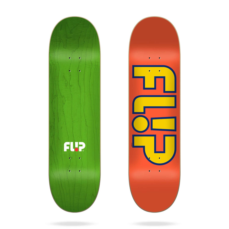 """Flip Team Outlined Orange 7.75"""" deck"""