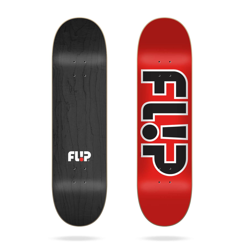 """Flip Team Outlined Red 8.0"""" deck"""