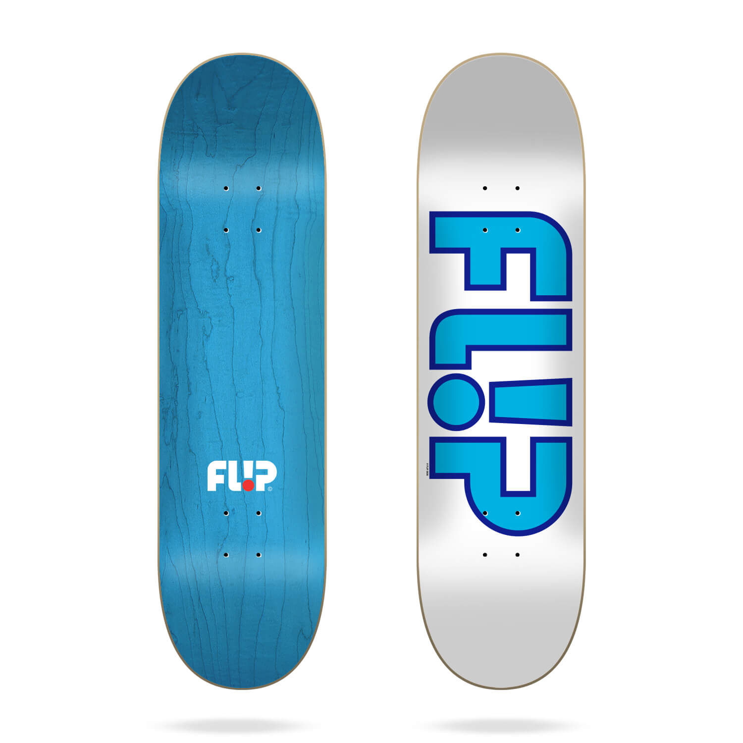 "Flip Team Outlined White 7.81"" deck"