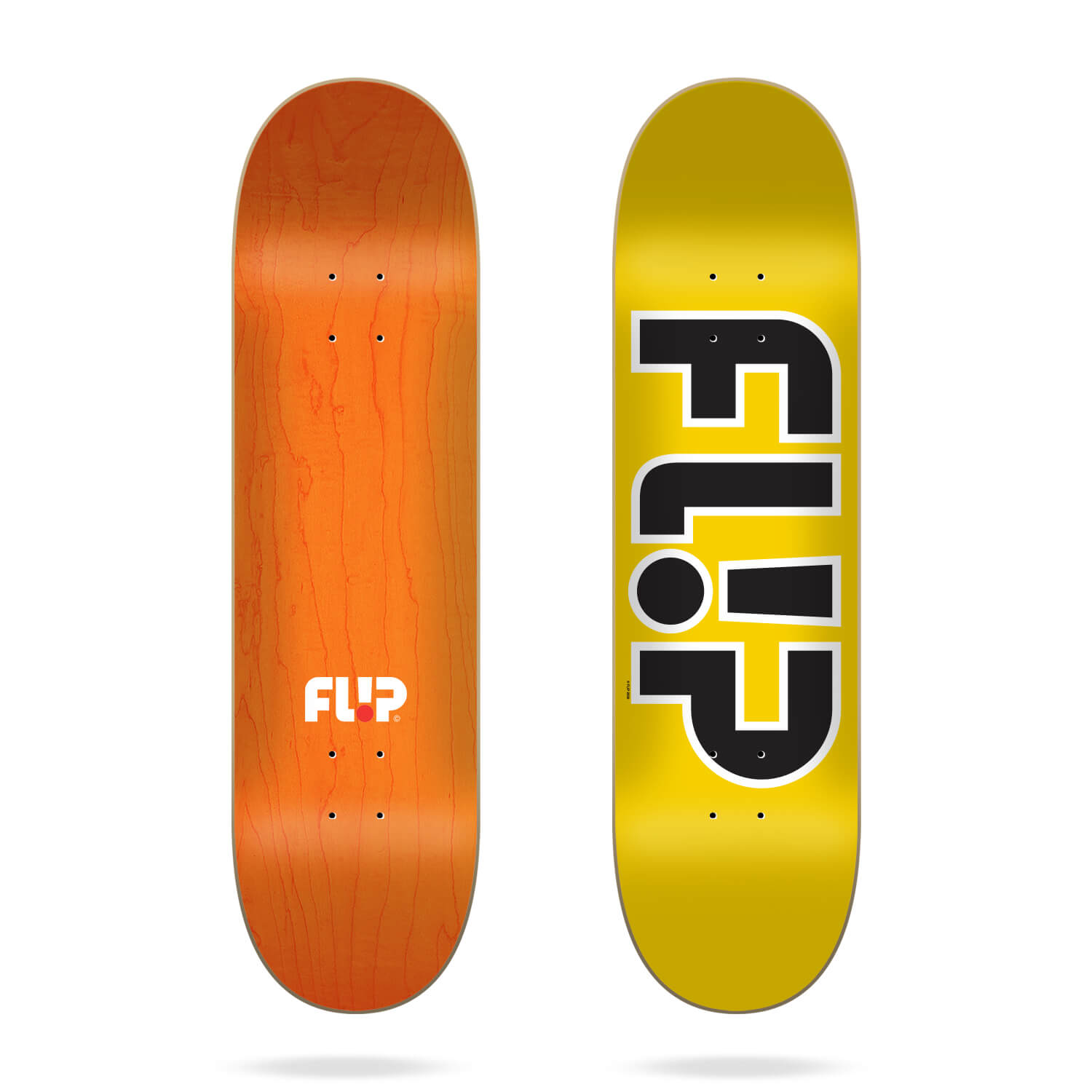 "Flip Team Outlined Yellow 8.45"" deck"