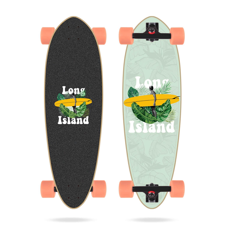 """Long Island Foliage 32.75"""" Mini Pin Longboard"""