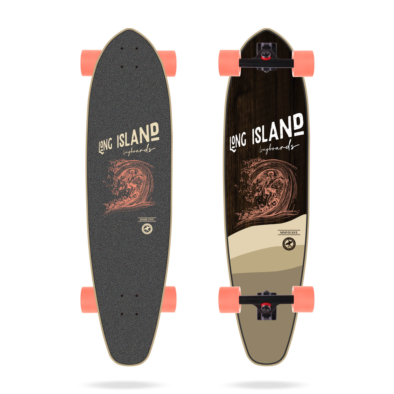 "Long Island Stamp 37"" Kicktail Longboard"