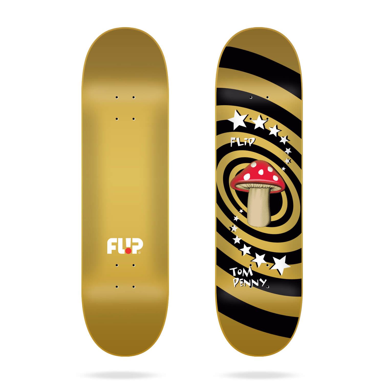 """Flip Penny Mushroom Gold 8.25"""" deck"""