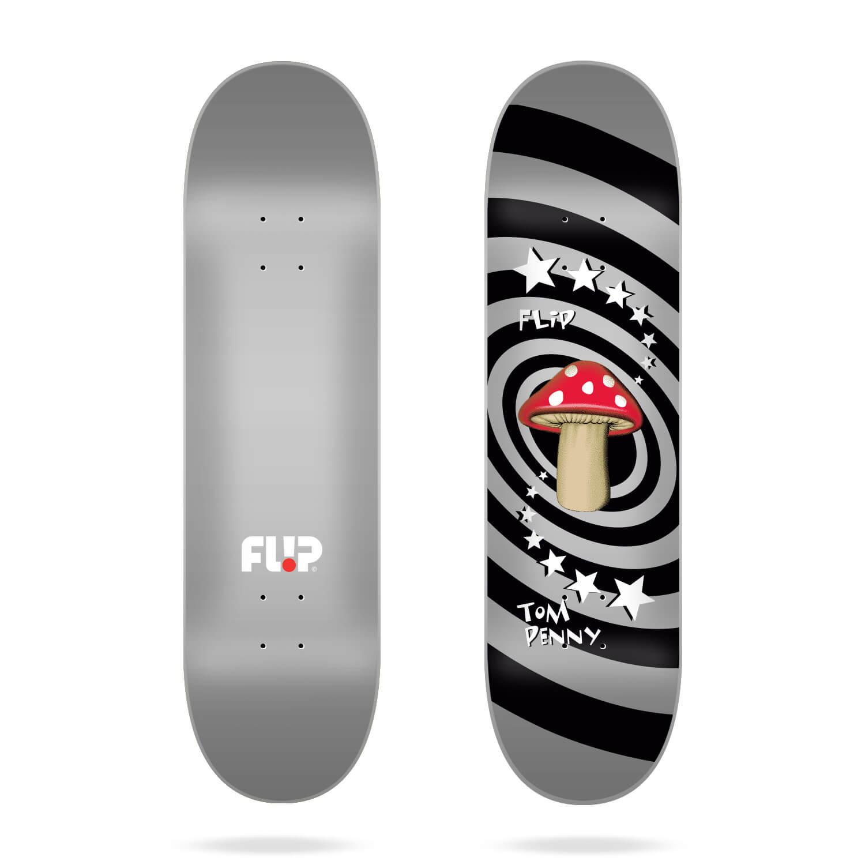 """Flip Penny Mushroom Silver 8.0"""" deck"""