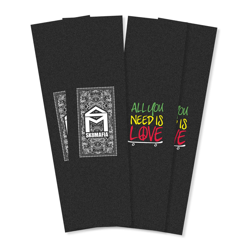 """Sk8mafia Logo 9"""" griptape 4 pack"""