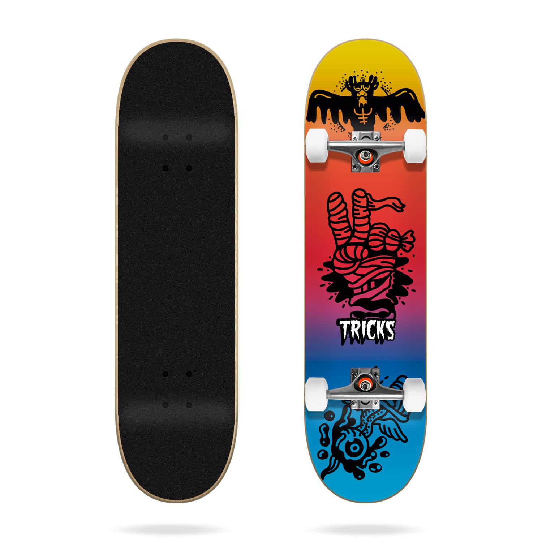 """Tricks Tattoo 7.25"""" MC Skateboard Complete"""